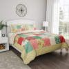 2-Piece Quilt and Sham Set ? Hypoallergenic and Soft Microfiber Sweet Dreams Patchwork Pastel Floral Print All-Season Bedding by LHC (Twin XL)