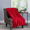 Velvet Throw ? Oversized Microfiber Velvet Solid Polyester Throw Blanket ? Breathable and Machine Washable by LHC (Vineyard Red)