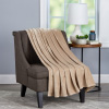 Velvet Throw ? Oversized Microfiber Velvet Solid Polyester Throw Blanket ? Breathable and Machine Washable by Lavish Home (Desert Tan)