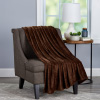 Velvet Throw ? Oversized Microfiber Velvet Solid Polyester Throw Blanket ? Breathable and Machine Washable by LHC (Mocha Brown)