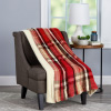 Blanket Throw ? Oversized Plush Woven Polyester Sherpa Fleece Plaid Throw ? Breathable and Machine Washable by LHC (Vineyard)