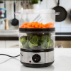 Food Steamer - 4 Quart Electric Steam Appliance with 60 Minute Timer and Auto-Shutoff ? For Rice, Vegetables, and Healthier Cooking by Chef Buddy
