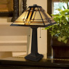 Tiffany Style Table Lamp ? Mission Design Art Glass Lighting 2 LED Bulbs Included- Vintage Look Handcrafted Accent Decor by Lavish Home