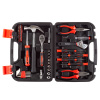 Tool Kit - 47 Heat-Treated Pieces with Carrying Case - Essential Steel Hand Tool and Basic Repair Set for Apartments, Dorm, Homeowners by Stalwart