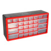 30 Drawer Storage Cabinet-Plastic Organizer with 6 Large & 24 Small Compartments-Desktop or Wall Mount for Hardware, Parts, Crafts & More by Stalwart