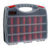 Portable Storage Case- Secure Locks & 23 Compartments with Removable Dividers for Hardware, Screws, Bolts, Nails, Beads, Jewelry & More by Stalwart