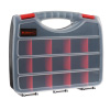 Portable Storage Case- Secure Locks & 17 Compartments with Removable Dividers for Hardware, Screws, Bolts, Nails, Beads, Jewelry & More by Stalwart