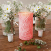 LED Candle with Remote Control-Rose Design Scented Wax, Realistic Flickering or Steady Flameless Pillar Light-Ambient Home D�cor by Lavish Home