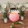 LED Candle with Remote Control-Rose Ball Design Scented Wax, Realistic Flickering or Steady Flameless Sphere Light-Ambient Home D�cor by Lavish Home