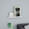 Floating Wall Ledge Shelf with Hidden Brackets- Display Shelf for Photos, Frames, Artwork, D�cor, More- Hardware Included by Lavish Home (White)