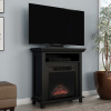 Electric Fireplace TV Stand? 29? Freestanding Console with Shelf, Faux Logs and LED Flames, Space Heater Entertainment Center by Northwest (Black)