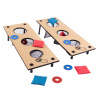 2-in-1 Washer Pitch and Beanbag Toss Set ? Indoor or Outdoor Wooden Classic Team Backyard and Tailgate Party Games for Kids and Adults by Hey! Play!