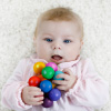Wooden Teething and Grasping Toy ? Classic Clutching Ring with Beads for Babies ? Sensory, Developmental and Stimulation Play by Hey! Play!