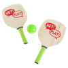 Paddle Ball Game Set ? Pair of Lightweight Beginner Rackets, Ball and Carrying Bag for Indoor or Outdoor Play ? Adults and Children by Hey! Play!