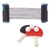 Table Tennis Set ? Portable Instant Two Player Game with Retractable Net, Wooden Paddles and Balls for Two Player Family Fun On The Go by Hey! Play!