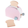 Pretend Play Toaster ? Pastel Wooden Appliance with 2 Pieces of Toast, Toasting Dial and Pop Up Lever - Kid?s Toy Kitchen Accessories by Hey! Play!