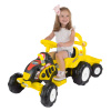Ride On Tractor and Trailer- Battery Powered Vehicle for Indoor or Outdoor Play-Fun Riding Toy for Boys and Girls Ages 3-5 by Lil? Rider (Yellow)