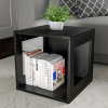 End Table ? Stackable Contemporary Minimalist Modular Cube Accent Table with Open Sides for Bedroom, Living Room or Office by Lavish Home (Black)