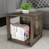 End Table ? Stackable Contemporary Minimalist Modular Cube Accent Table with Open Sides for Bedroom, Living Room or Office by Lavish Home (Gray)