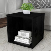 End Table ? Stackable Contemporary Minimalist Modular Cube Accent Table or Shadowbox for Bedroom, Living Room or Office by Lavish Home (Black)