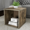 End Table ? Stackable Contemporary Minimalist Modular Cube Accent Table or Shadowbox for Bedroom, Living Room or Office by Lavish Home (Gray)