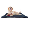Waterproof Dog Crate Pad- 38.75 x 25 Water Repelling Kennel Bed, Raised Edge, Easy-To-Clean Multi-Purpose Mat for Home & Car Travel by PETMAKER (Navy)