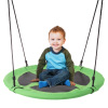 Saucer Swing ? 40? Diameter Hanging Tree or Swing Set Outdoor Playground or Backyard Play Accessory Round Disc with Adjustable Rope by Hey! Play!