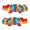 Alligator Puzzle ? Colorful Classic Wooden Alphabet and Number Jigsaw Puzzle Toy for Kids and Toddlers Developmental Learning and Play by Hey! Play!