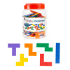 Rainbow Pentominoes-72-Piece Set Bright Colorful Scored Plastic Tile Puzzle with Storage Case-Fun Educational STEM Activity for Kids by Hey! Play!