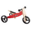 2-in-1 Wooden Balance Bike & Push Tricycle- Ride-On Toy with Easy Grip Handles, No Pedals, Rubber Wheels for Boys and Girls, Ages 18 Months and Up