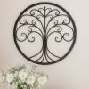 Wall D�cor ? Iron Metal Tree of Life Modern Wall Sculpture Art Round for Living Room, Bedroom or Kitchen by Lavish Home (Brown)