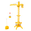 Remote Control Standing Crane- 360 Degree Rotating RC Construction Playset with Winch, 1:40 Scale, Detachable Basket & Lights for Kids by Hey! Play!