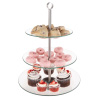 3-Tier Dessert Stand-Tempered Round Glass Display Tower for Cupcakes, Cookies, Fruit, Appetizers?Buffet, Wedding, Party Serveware by Classic Cuisine