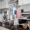 Clothes Drying Rack ? 3-Tiered Laundry Station with Collapsible Shelves and Wheels for Folding, Sorting and Air Drying Garments by Lavish Home