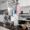 Clothes Drying Rack ? 4-Tiered Laundry Station with Collapsible Shelves and Wheels for Folding, Sorting and Air Drying Garments by Lavish Home