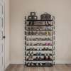 Shoe Rack-10 Tier Storage for Sneakers, Heels, Flats, Accessories, and More-Space Saving Organization for Bedroom, Closet, or Garage by Lavish Home