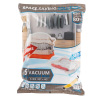 5 Vacuum Storage Bags-Space Saving Air Tight Compression-Shrink Closet Clutter Store, Organize Clothes, Linens, Seasonal Items by Lavish Home (XL)