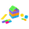Brush Shape Building Set-182 Individual Tile Pieces for 3D STEM, Building, Stacking-Creative Play for Toddlers and Preschoolers by Hey! Play!