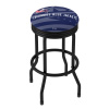 NHL Black Ribbed Bar Stool - Columbus Blue Jackets
