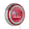 NHL Chrome Double Rung Neon Clock - Watermark - Montreal Canadiens?