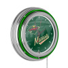 NHL Chrome Double Rung Neon Clock - Watermark - Minnesota Wild?