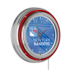 NHL Chrome Double Rung Neon Clock - Watermark - New York Rangers?