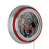 NHL Chrome Double Rung Neon Clock - Watermark - Ottawa Senators?