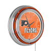 NHL Chrome Double Rung Neon Clock - Watermark - Philadelphia Flyers?