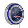 NHL Chrome Double Rung Neon Clock - Watermark - Washington Capitals?