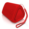 OontZ Angle solo Bluetooth Speaker Surprisingly Loud Bass 100? Wireless Range, IPX-5 Splashproof Red with lanyard