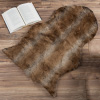 Sheepskin Throw Rug ? Faux Sable Fur 2x3-Foot Accent Rug ? Ombre Brown Plush Mat for Bedroom, Living Room, Den & Office by Lavish Home