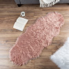 Sheepskin Throw Rug ? Faux Fur 2x5-Foot High Pile Runner ? Soft and Plush Mat for Bedroom, Kitchen, Bathroom, Nursery and Office by Lavish Home (Pink)