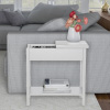 Flip Top End Table-Slim Side Console with Hidden Hinged Storage Compartment and Lower Shelf-Great for Living Room, Hallway or Entryway by Lavish Home