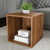End Table ? Stackable Contemporary Minimalist Modular Cube Accent Table or Shadowbox for Bedroom, Living Room or Office by Lavish Home (Brown)